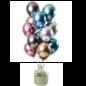 Helium Pakket Helium Tank met Mirror Chrome Ballonnen Treasures Mix