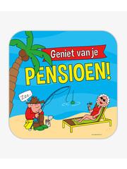 Huldebord Pensioen - Cartoon