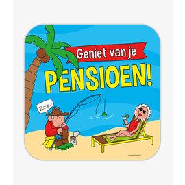Huldeschilden Huldebord Pensioen - Cartoon