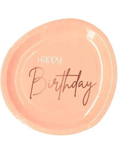 Elegant Lush Blush Bordjes - Happy Birthday