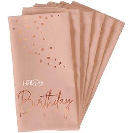 Servetten Elegant Lush Blush Servetten - Happy Birthday