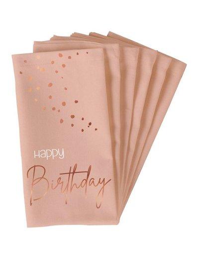 Elegant Lush Blush Servetten - Happy Birthday
