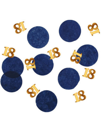 Elegant True Blue Confetti 18 t/m 80 jaar