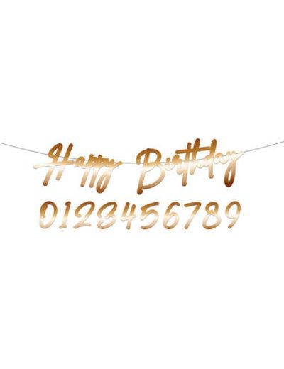 Elegant True Blue Letterslinger - Happy Birthday