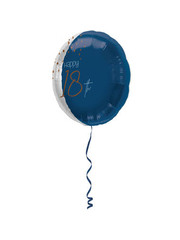 Folieballon Elegant True Blue - 18 Jaar