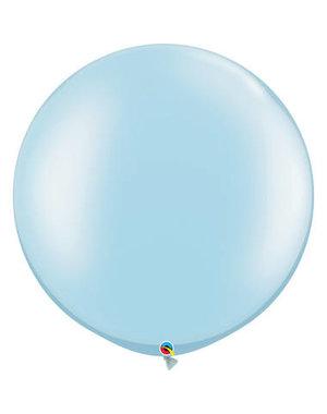 Topballon Licht Blauw Metallic - 90cm  Qualatex