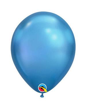 Ballonnen Blauw Chroom - 100stk