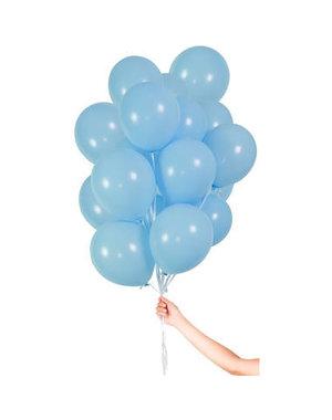 Ballonnen Lichtblauw met Lint 23cm - 30stk