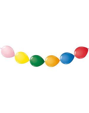 Knoop Ballonnen Gekleurd - 8stk
