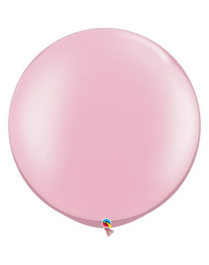 Topballon Licht roze Metallic - 90cm  Qualatex