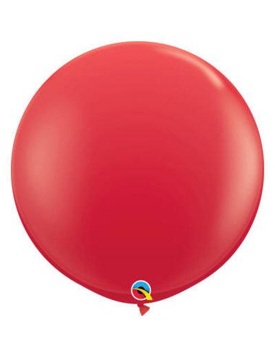 Topballon Rood - 90cm  Qualatex