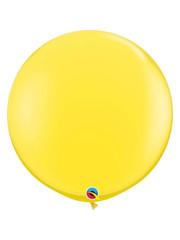 Topballon Geel - 90cm  Qualatex