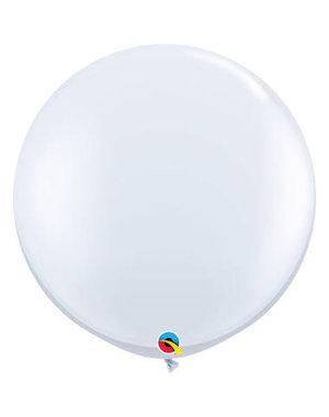 Topballon Wit - 90cm  Qualatex