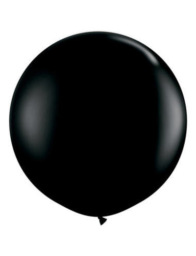 Topballon Zwart - 90cm  Qualatex