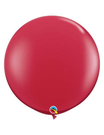 Topballon Robijn Rood - 90cm  Qualatex
