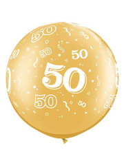 Ballon Goud Metallic  50 Jaar- 90cm  Qualatex
