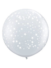 Ballon Diamond Clear Stars- 90cm  Qualatex