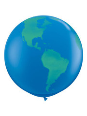 Ballon Wereldbol - 90cm  Qualatex