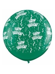 Ballon Happy Birthday Groen - 90cm  Qualatex