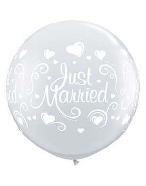 Ballon Diamond Just Married - 90cm  Qualatex
