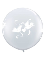 Ballon Wit Duiven - 90cm  Qualatex