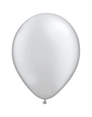 Ballonnen Zilver Metallic 13cm - 20stk