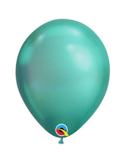 Ballonnen Groen Chroom - 100stk