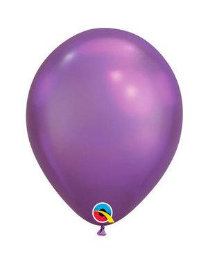 Ballonnen Paars Chroom 28cm  - 100stk