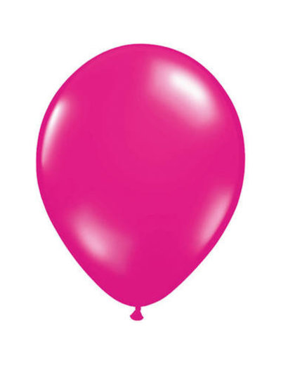 Ballonnen Magenta Roze Metallic  30cm - 10, 50, 100stk