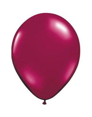 Ballonnen Wijnrood Metallic 30cm - 10, 50, 100stk