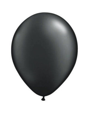 Ballonnen Zwart Metallic 30cm - 10, 50, 100stk