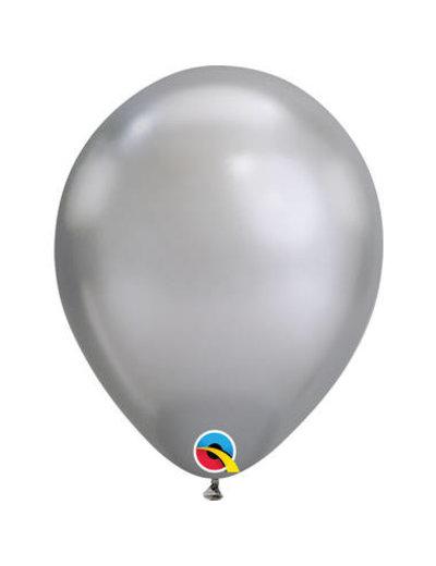 Ballonnen Zilver  Chroom 28cm  - 100stk