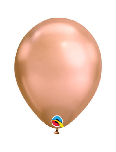 Ballonnen Rosé Goud Chroom 28cm  - 100stk