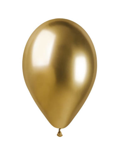 Ballonnen Chroom Goud 33cm  - 5stk