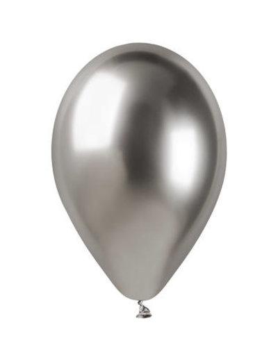 Ballonnen Chroom Zilver  33cm  - 5stk