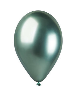 Ballonnen Chroom Groen  33cm  - 5stk