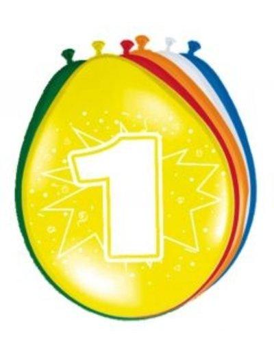 Ballonnen 1 Jaar 30cm - 8stk