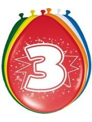 Ballonnen 3 Jaar 30cm - 8stk