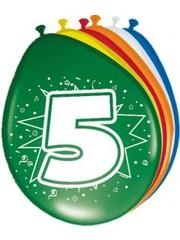 Ballonnen 5 Jaar 30cm - 8stk