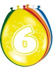 Ballonnen 6 Jaar 30cm - 8stk