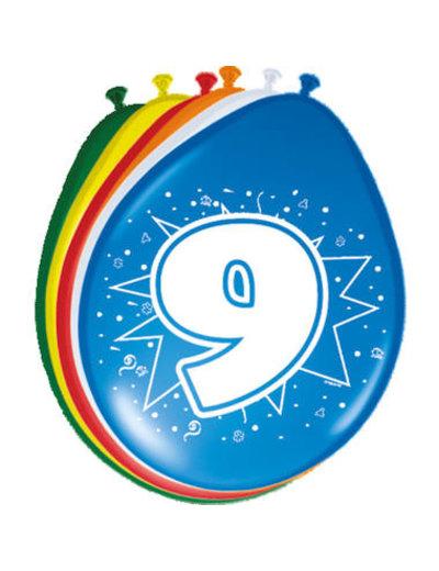 Ballonnen 9 Jaar 30cm - 8stk