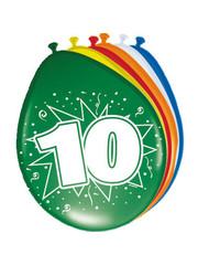 Ballonnen 10 Jaar 30cm - 8stk