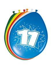 Ballonnen 11 Jaar 30cm - 8stk