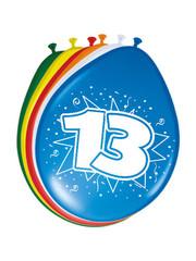 Ballonnen 13 Jaar 30cm - 8stk