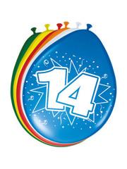 Ballonnen 14 Jaar 30cm - 8stk