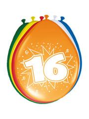 Ballonnen 16 Jaar 30cm - 8stk
