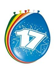 Ballonnen 17 Jaar 30cm - 8stk