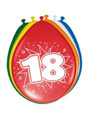 Ballonnen 18 Jaar 30cm - 8stk