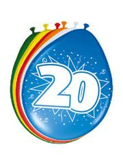 Ballonnen 20 Jaar 30cm - 8stk