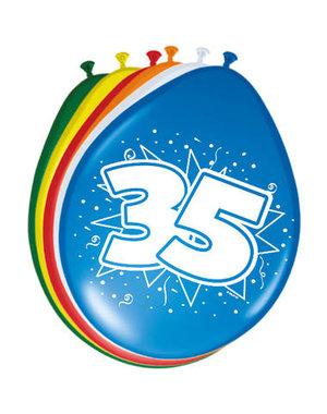 Ballonnen 35 Jaar 30cm - 8stk
